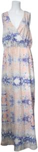 * Mystic Waters Maxi Dress by W118 by Walter Baker Blue Pink Purple V-neck Sleeveless
