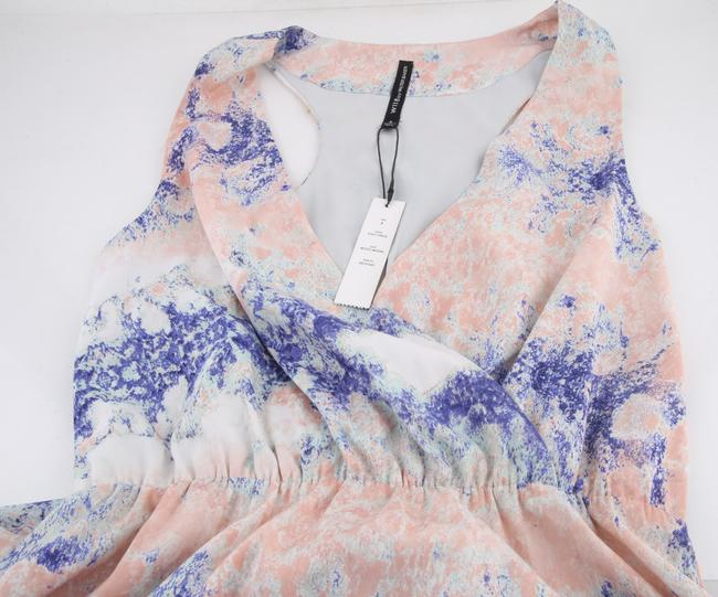 * Mystic Waters Maxi Dress by W118 by Walter Baker Blue Pink Purple V-neck Sleeveless Image 3