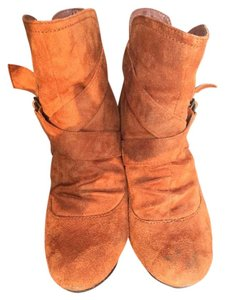 Charlotte Russe Straps Light Brown Boots