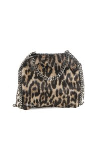 Stella McCartney Leopard Faux Fur Chain Cross Body Bag