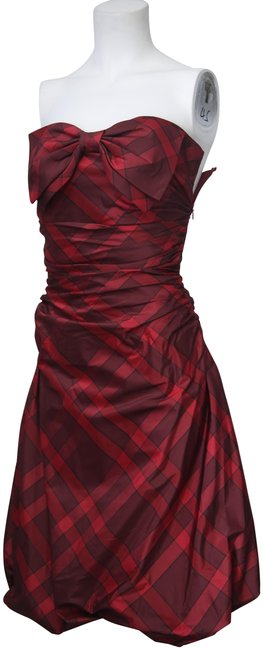Preload https://img-static.tradesy.com/item/23822709/kay-unger-red-plaid-strapless-bow-mid-length-formal-dress-size-2-xs-0-2-650-650.jpg