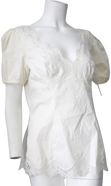 Preload https://img-static.tradesy.com/item/23822774/dolce-and-gabbana-white-lace-fitted-f78z5t-fuea3-blouse-size-8-m-0-1-650-650.jpg