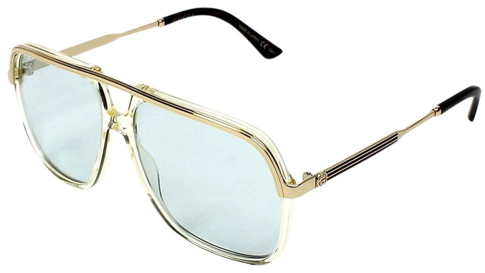 7db3f73279 Gucci Gucci Sunglasses GG0200S 005 57mm Yellow-Gold   Light Blue Lens Image  0 ...