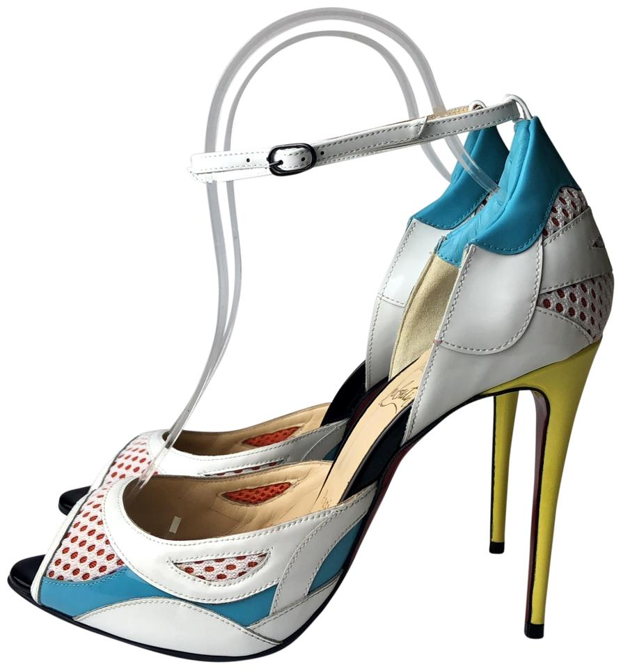 a334a307ca66 100 Multicolor Patent Heels Louboutin Pumps Resille Discodeporte Multi  Christian pfaqn ...