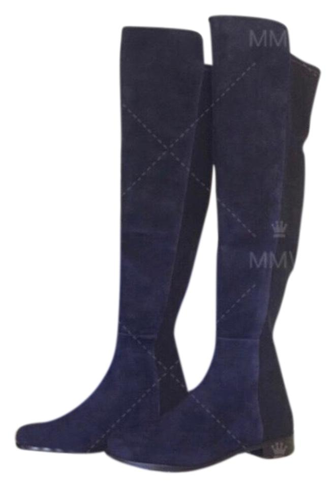 54a9e559b71a Stuart Weitzman Blue 5050 Over The Knee Nice Suede Boots Booties ...