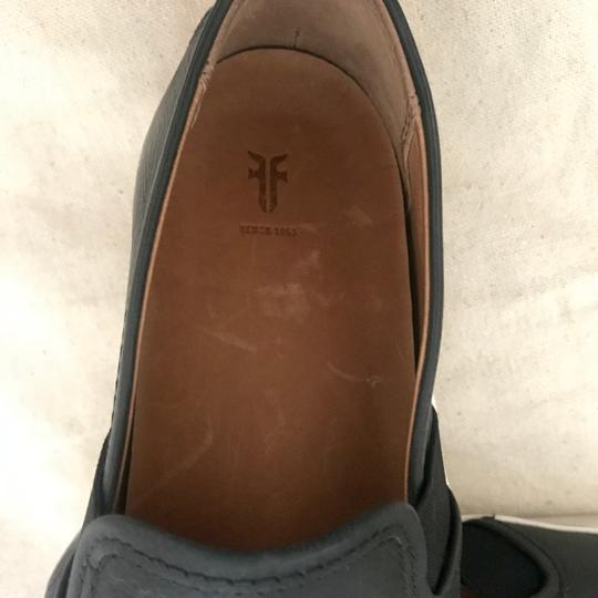 Frye Leather Slip On Sneakers Classic Comfort Black Athletic Image 3