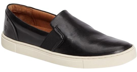 Frye Leather Slip On Sneakers Classic Comfort Black Athletic Image 7