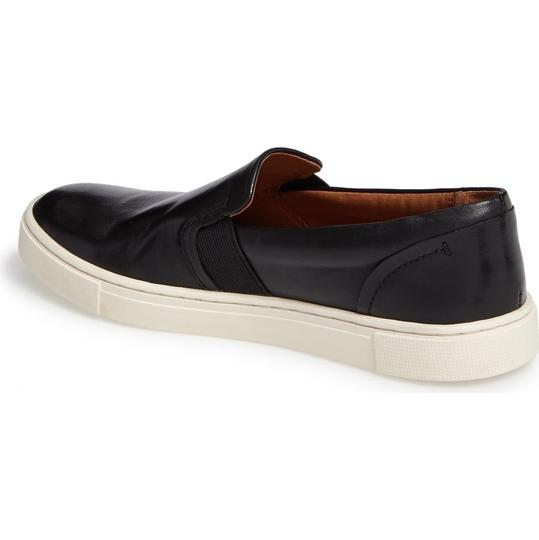 Frye Leather Slip On Sneakers Classic Comfort Black Athletic Image 8