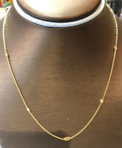 Yellow Gold Dia By The Yard Necklace