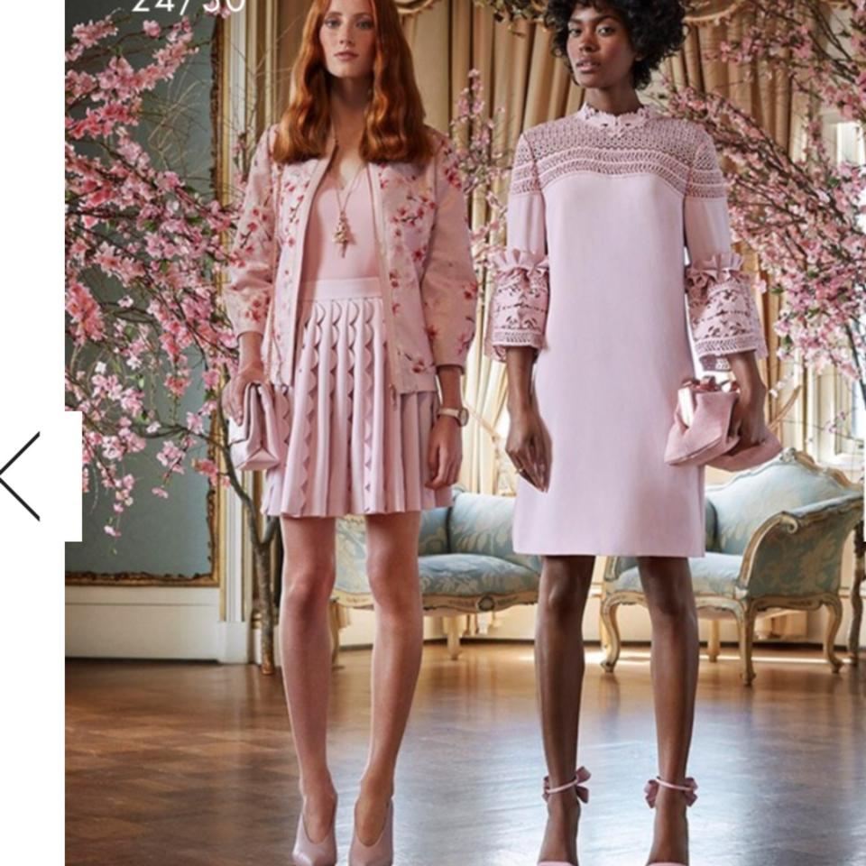 597d54c8a Ted Baker Dusky Pink Lucila Lace Bell Sleeved Tunic Short Cocktail Dress  Size 6 (S) - Tradesy