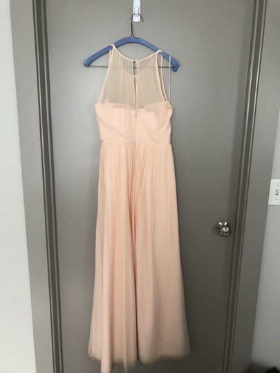 J.Crew Soft Peach Chiffon Megan Traditional Bridesmaid/Mob Dress Size 10 (M) Image 1