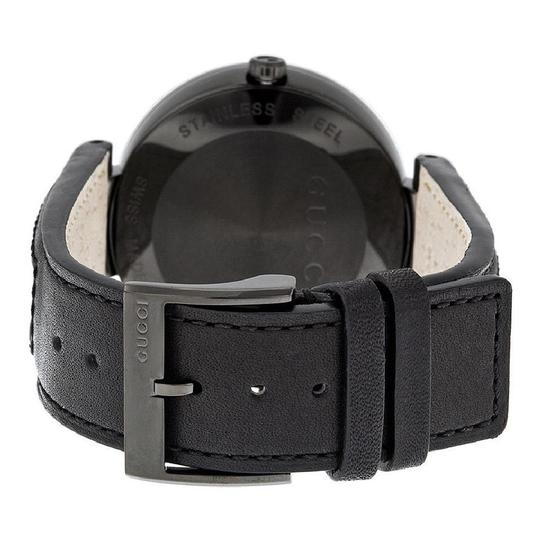 Gucci Interlocking G Dial Leather Mens Watch Image 2
