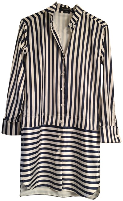 Preload https://img-static.tradesy.com/item/23823204/stripes-silky-material-xs-short-workoffice-dress-size-0-xs-0-1-650-650.jpg