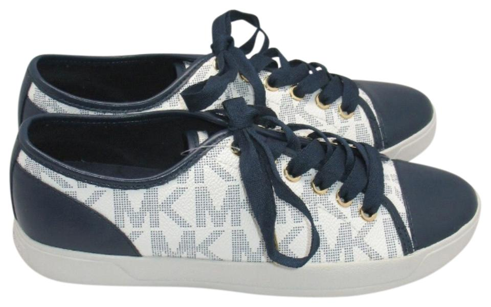 943a47f2902a2 Michael kors blue white nwob city low top sneakers flats size jpg 960x600 Mk  blue sneakers