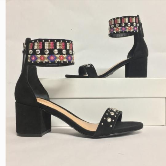 Anthropologie Colorful Embroidery Against Black Sandals Image 1