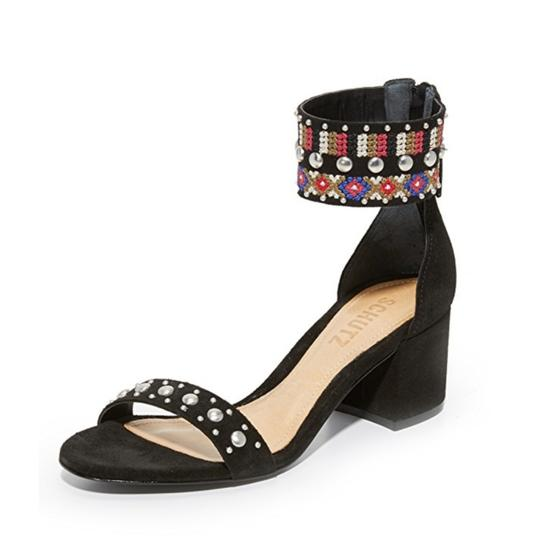 Anthropologie Colorful Embroidery Against Black Sandals Image 2