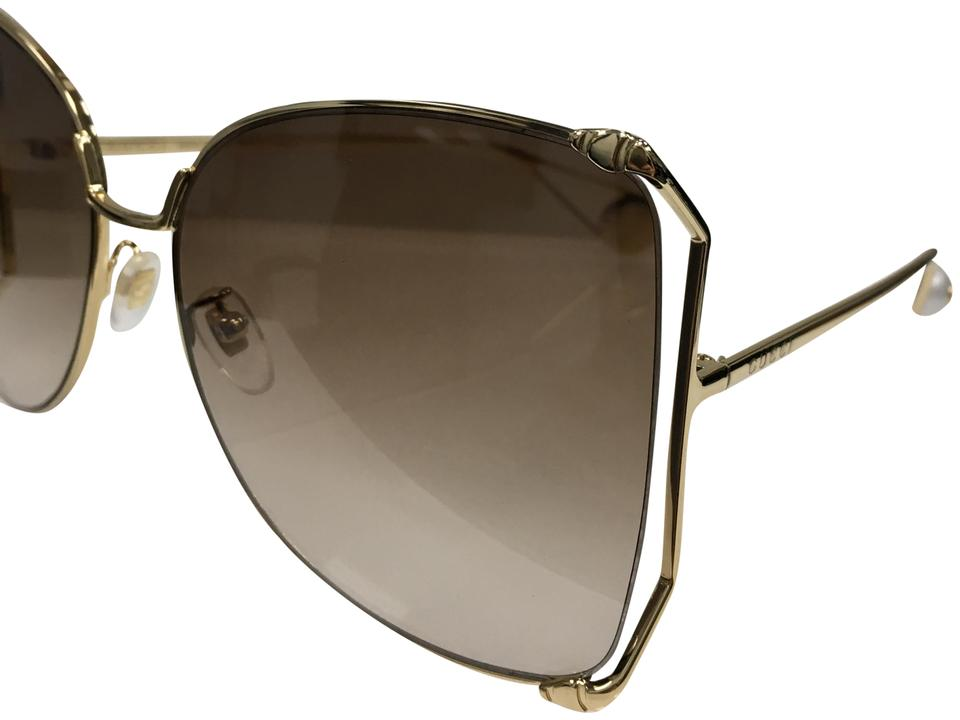 dcc19bb2f6 Gucci Gucci Women s Sensual Romantic GG 0252S 003 Fashion Butterfly Sunglass  Image 0 ...