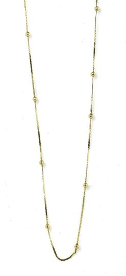 Gold Necklace Small Ball stations Necklace Image 3