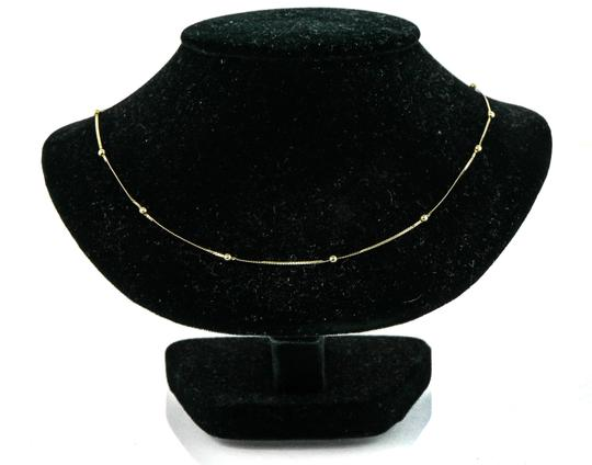 Gold Necklace Small Ball stations Necklace Image 4