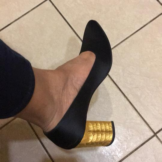 Christian Louboutin black and gold Pumps Image 3
