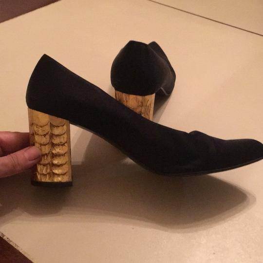 Christian Louboutin black and gold Pumps Image 6