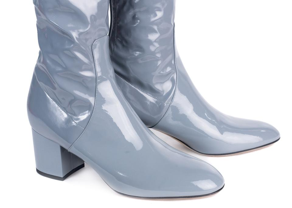 e9f7a77cf43 Valentino Grey Womens Patent Leather Thigh High Boots/Booties Size ...