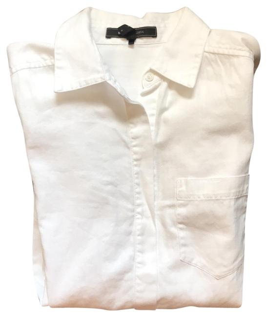 BCBGMAXAZRIA Button Down Shirt White Image 0