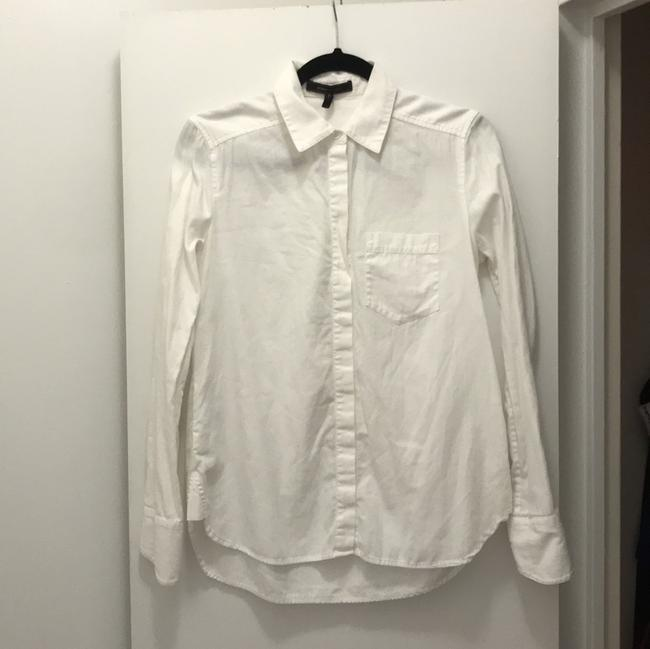 BCBGMAXAZRIA Button Down Shirt White Image 1