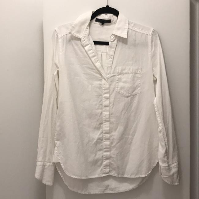 BCBGMAXAZRIA Button Down Shirt White Image 2