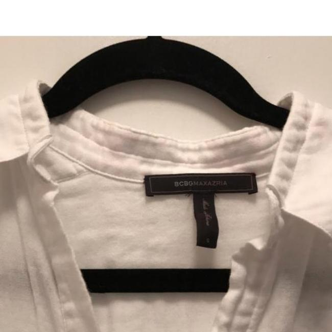 BCBGMAXAZRIA Button Down Shirt White Image 3