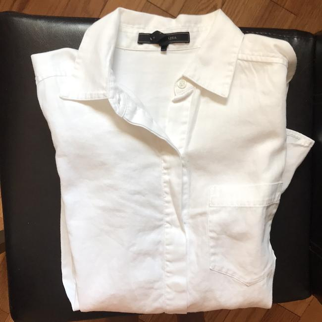 BCBGMAXAZRIA Button Down Shirt White Image 8