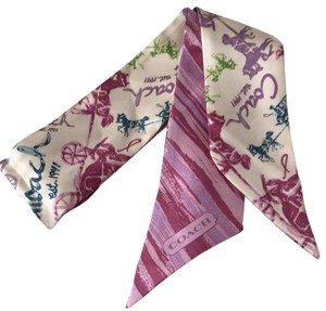 Coach NWT Coach Painted Horse Ponytail Scarf
