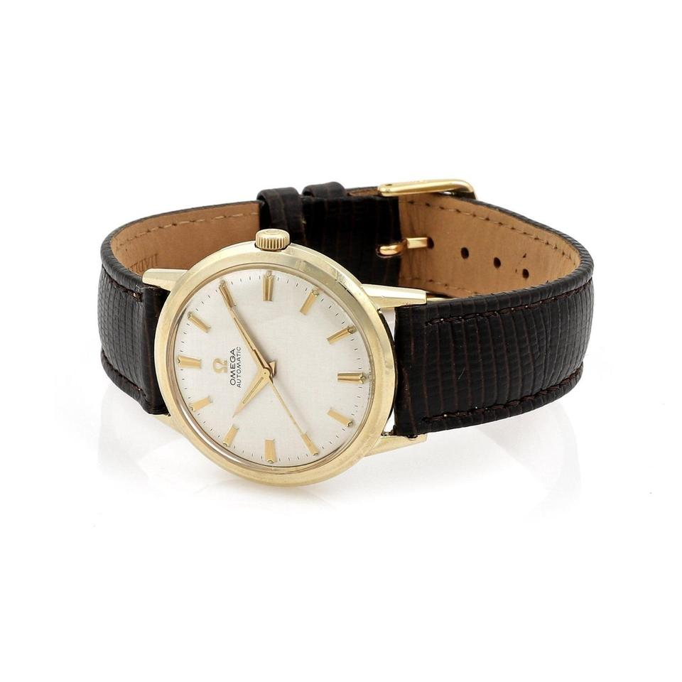 63a27b09c5f Omega Vintage Automatic Steel   10k Gold Filled Men s Wrist Watch Leather  Image 0 ...