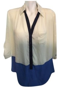 HeartSoul Button Down Shirt Blue and White