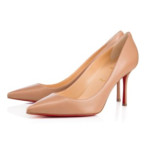 Christian Louboutin Decoltish Pigalle Stiletto Classic Leather nude Pumps