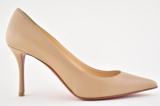 Christian Louboutin Decoltish Pigalle Stiletto Classic Leather nude Pumps Image 1