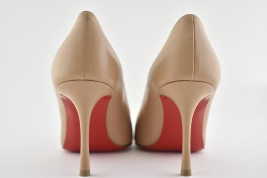 Christian Louboutin Decoltish Pigalle Stiletto Classic Leather nude Pumps Image 10