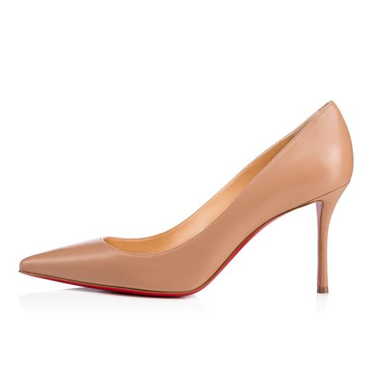 Christian Louboutin Decoltish Pigalle Stiletto Classic Leather nude Pumps Image 2