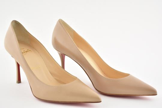Christian Louboutin Decoltish Pigalle Stiletto Classic Leather nude Pumps Image 3