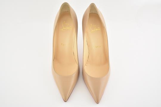 Christian Louboutin Decoltish Pigalle Stiletto Classic Leather nude Pumps Image 6