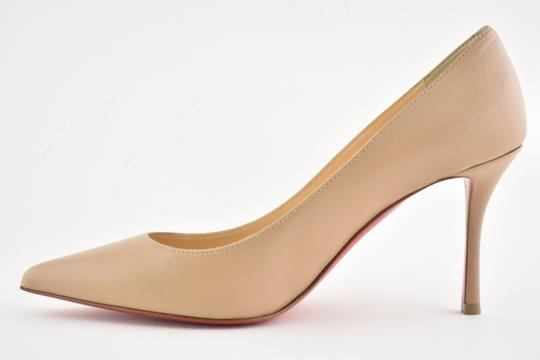 Christian Louboutin Decoltish Pigalle Stiletto Classic Leather nude Pumps Image 7