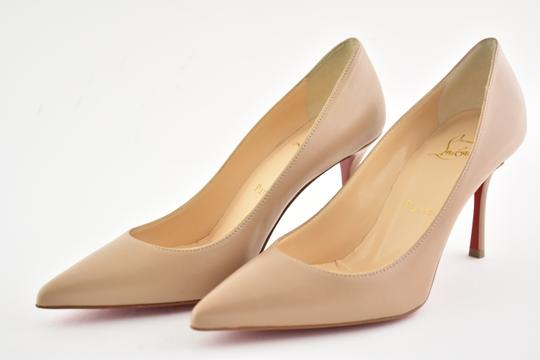 Christian Louboutin Decoltish Pigalle Stiletto Classic Leather nude Pumps Image 8