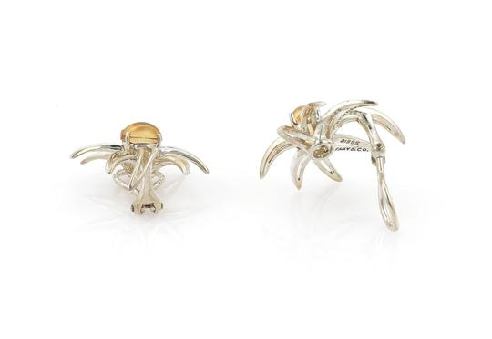 Tiffany & Co. 1995 Sterling Cabochon Citrine Fireworks Clip On Earrings Image 3