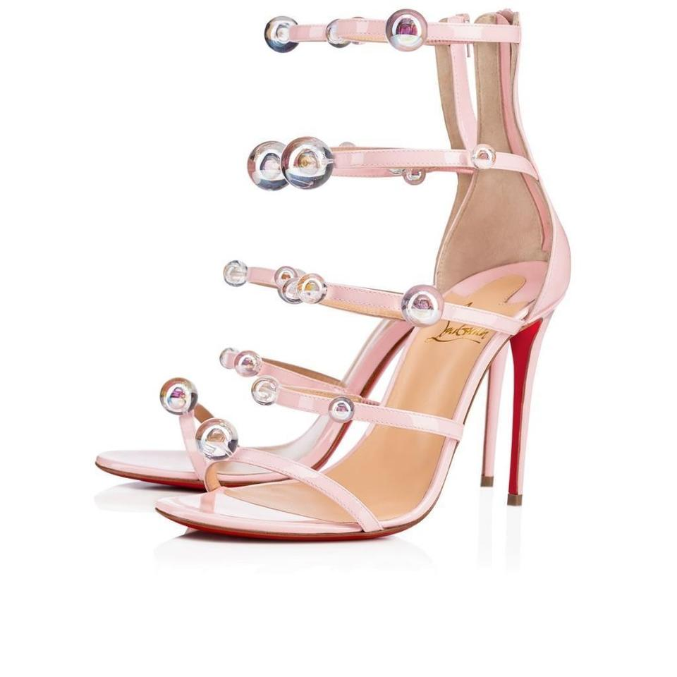 0ee4c7d59b4 Christian Louboutin Pink Atonana 100 Ball Studded Strappy Sandals Size EU  35 (Approx. US 5) Regular (M, B) 25% off retail