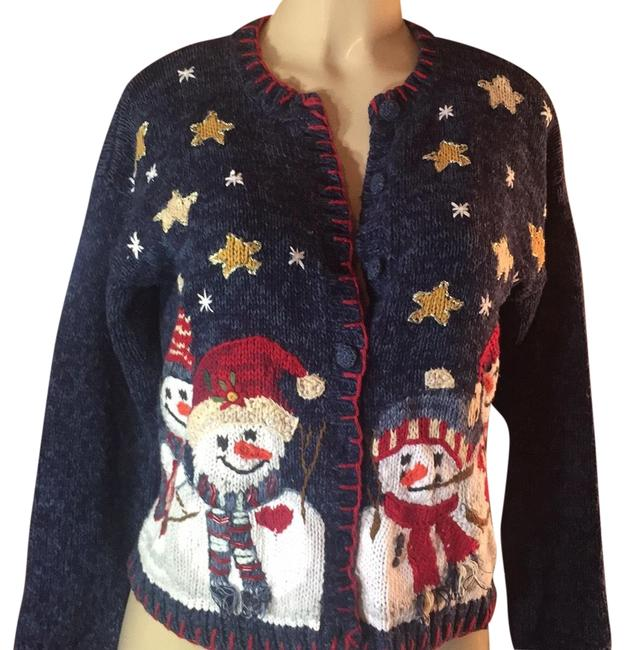 Preload https://img-static.tradesy.com/item/23824197/heirloom-collectibles-navy-red-white-gold-multi-christmas-sweaterpullover-size-petite-10-m-0-2-650-650.jpg