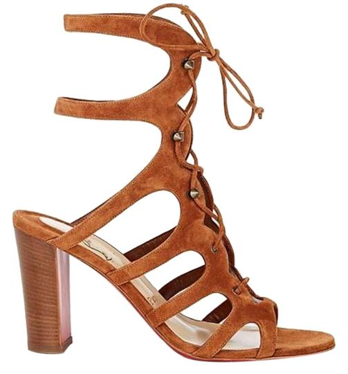 Preload https://img-static.tradesy.com/item/23824201/christian-louboutin-brown-amazoudur-caged-lace-up-gladiator-sandals-size-eu-355-approx-us-55-regular-0-2-540-540.jpg