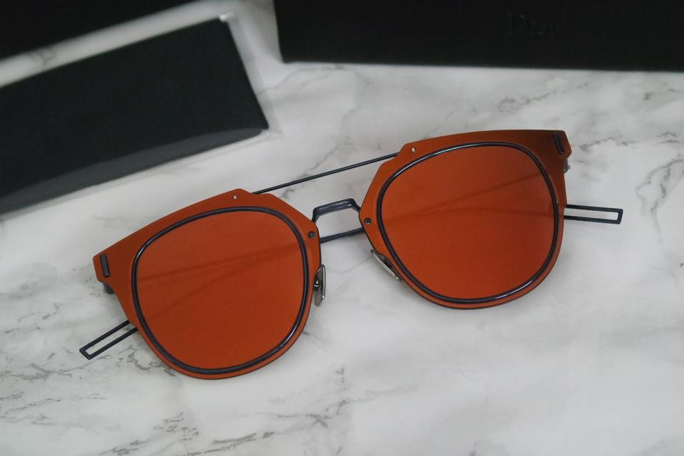 ea465743c0 Dior NEW Dior Composit 1.0 Orange Red Mirrored Sunglasses Image 8. 123456789