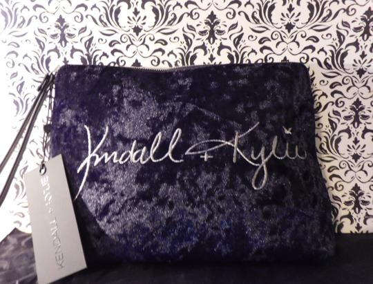 Kendall and Kylie Black Velvet Clutch Image 1