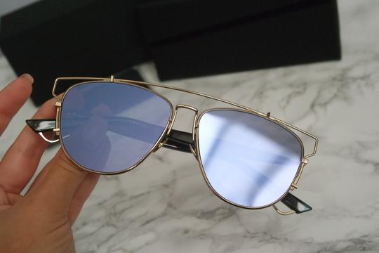 Dior NEW Dior Technologic Sunglasses in Gold Purple Mirrored Image 1