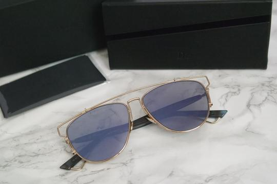 Dior NEW Dior Technologic Sunglasses in Gold Purple Mirrored Image 2